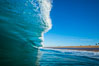Breaking wave, morning, barrel shaped surf, California. California, USA. Image #28000