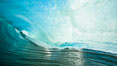 Breaking wave, morning, barrel shaped surf, California. California, USA. Image #28002