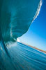 Breaking wave, morning, barrel shaped surf, California. California, USA. Image #28003