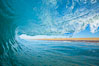 Breaking wave, morning, barrel shaped surf, California. California, USA. Image #28004
