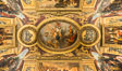 Ceiling art detail, Chateau de Versailles, Paris, France. Image #28071