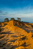 Broken Hill and view to La Jolla, from Torrey Pines State Reserve, sunrise. San Diego, California, USA. Image #28399