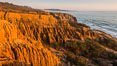 Torrey Pines Cliffs and Pacific Ocean, Razor Point view to La Jolla, San Diego, California. Torrey Pines State Reserve, USA. Image #28483