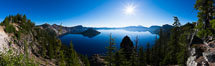 Panoramic photo of Crater Lake National Park. Crater Lake National Park, Oregon, USA. Image #28675