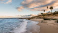 Hospital Point, La Jolla, dawn, sunrise light and approaching storm clouds. California, USA. Image #28857