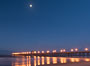 Full Moon over Oceanside Pier at Dawn. California, USA. Image #28875