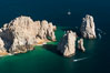 Aerial photograph of Land's End and the Arch, Cabo San Lucas, Mexico. Baja California. Image #28890