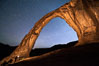 Stars over Corona Arch at Night, Moab, Utah. USA. Image #29241