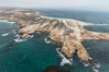 Point Bennett, San Miguel Island, aerial photograph. San Miguel Island, California, USA. Image #29381