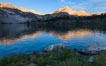 Greenstone Lake and North Peak, Hoover Wilderness, Sunrise. 20 Lakes Basin, California, USA. Image #31050