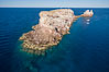 Los Islotes, famous for its friendly colony of California sea lions, part of Archipelago Espiritu Santo, Sea of Cortez, Aerial Photo. Baja California, Mexico. Image #32397