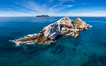 Middle Coronado Island, aerial photo. Coronado Islands (Islas Coronado), Baja California, Mexico. Image #35085