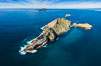 Middle Coronado Island, aerial photo. Coronado Islands (Islas Coronado), Baja California, Mexico. Image #35086