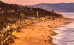Del Mar Beach at Sunset, northern San Diego County. California, USA. Image #35097