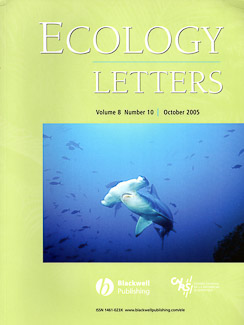 Cover of Ecology Letters
