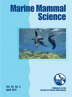 Cover of Marine Mammal Science