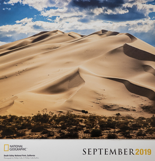 National Geographic National Park Calendar, Death Valley