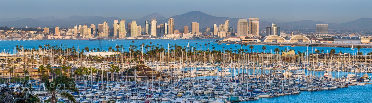High Resolution Panorama of the San Diego City Skyline
