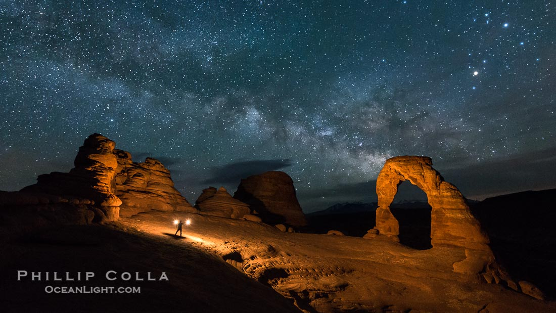 Light Painting Delicate Arch, Arches National Park, Utah