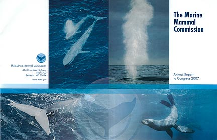 Cover of Marine Mammal Commission 2007 Annual Report to Congress