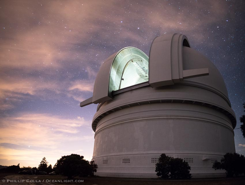 Palomar Observatory at Night, under the Stars