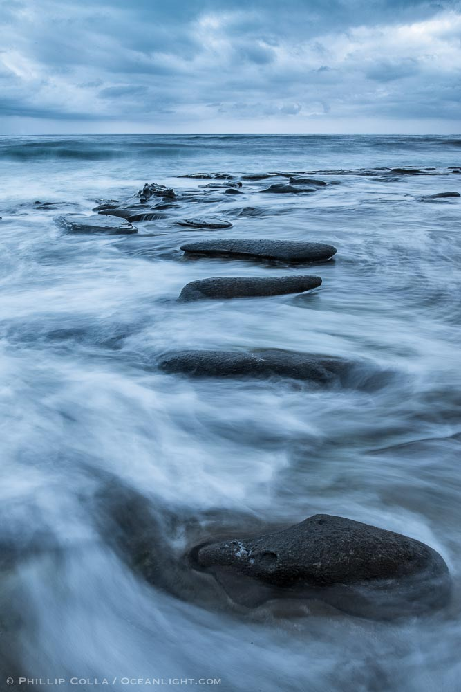 La Jolla Reefs, Surf and Clouds