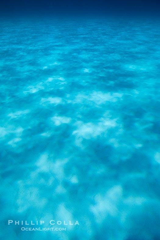 Light Rays on Ocean Bottom, Abstract Photo