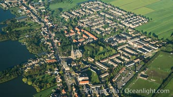 Aerial view of Amsterdam surrounding countryside. Amsterdam, Holland, Netherlands, natural history stock photograph, photo id 29430