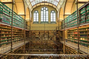 The Rijksmuseum Research Library, Amsterdam. Rijksmuseum, Amsterdam, Holland, Netherlands, natural history stock photograph, photo id 29455