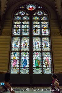 Stained glass in entrance hall, Rijksmuseum, Amsterdam