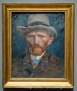 Self-portrait, Vincent van Gogh, 1887. Painting, h 42cm x w 34cm x d 8cm, Rijksmuseum, Amsterdam, Holland, Netherlands