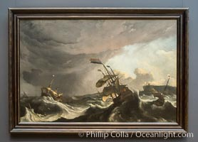 Warships in a Heavy Storm, Ludolf Bakhuysen, c. 1695 Oil on canvas, h 150cm � w 227cm, Rijksmuseum, Amsterdam, Holland, Netherlands