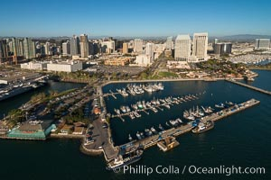 Aerial Photo of Downtown San Diego Waterfront