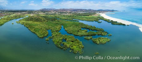 Estero San Jose, aerial photo. Baja California, Mexico, natural history stock photograph, photo id 32945