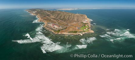 Image 30847, Aerial Panoramic Photo of Point Loma and Cabrillo Monument. San Diego, California, USA, Phillip Colla, all rights reserved worldwide. Keywords: aerial, aerial panorama, aerial panorama, aerial photo, beach, cabrillo monument, california, coast, ocean, pacific ocean, panorama, panoramic photo, point loma, san diego, usa, water.