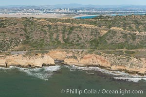 Aerial Photo of Cabrillo State Marine Reserve, Point Loma, San Diego. San Diego, California, USA, natural history stock photograph, photo id 30700
