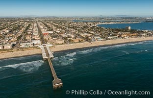 Aerial Photo of Crystal Pier and Garnet Avenue Pacific Beach, San Diego, California