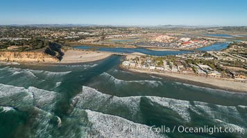 Aerial Photo of Del Mar Dog Beach and San Dieguito River