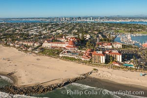 Aerial Photo of Hotel Del Coronado and San Diego
