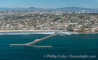 Aerial Photo of Imperial Beach Pier and Coastal Imperial Beach
