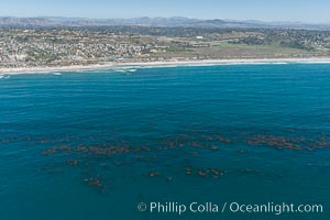 Aerial Photo of Swamis Marine Conservation Area.  Swami's State Marine Conservation Area (SMCA) is a marine protected area that extends offshore of Encinitas in San Diego County