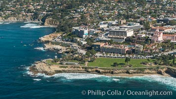 Aerial Photo of La Jolla Coastline. La Jolla, California, USA, natural history stock photograph, photo id 30708