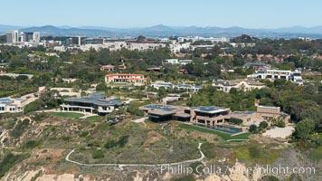 Aerial Photo of La Jolla Farms. La Jolla, California, USA, natural history stock photograph, photo id 30675