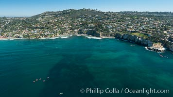 Aerial Photo of Matlahuayl State Marine Reserve (SMR), La Jolla Shores Beach. La Jolla, California, USA, natural history stock photograph, photo id 30633