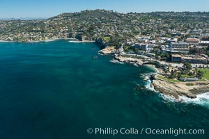 Aerial Photo of Matlahuayl State Marine Reserve (SMR), La Jolla Shores Beach. La Jolla, California, USA, natural history stock photograph, photo id 30634