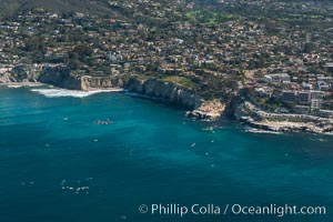 Aerial Photo of Matlahuayl State Marine Reserve (SMR), La Jolla Shores Beach. La Jolla, California, USA, natural history stock photograph, photo id 30636