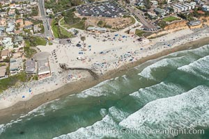 Aerial Photo of Moonlight Beach Encinitas