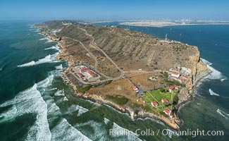 Aerial Photo of Point Loma and Cabrillo Monument, San Diego, California