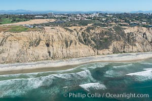 Aerial Photo of San Diego Scripps Coastal SMCA. Blacks Beach and Torrey Pines State Reserve. La Jolla, California, USA, natural history stock photograph, photo id 30620