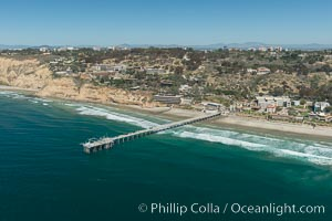 Aerial Photo of San Diego Scripps Coastal SMCA. Scripps Institution of Oceanography Research Pier. Scripps Institution of Oceanography, La Jolla, California, USA, natural history stock photograph, photo id 30628